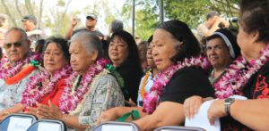 Patient residents were honored during last Saturday's Kalaupapa celebrations. Photo by Laura Pilz