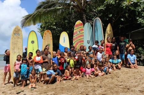 Keiki surf meet -- Clare Mawae