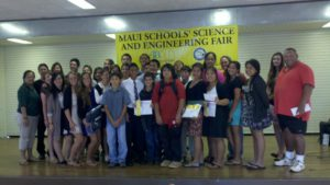 Students from Molokai middle and high schools participate in Maui Schools' Science and Engineering Fair 